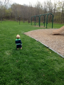MJ at the park. He looks so little.
